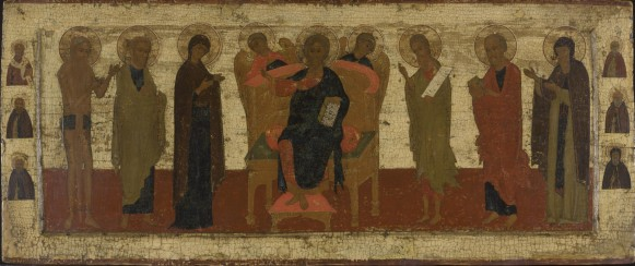 021 Russian icon depicting an extended Deesis