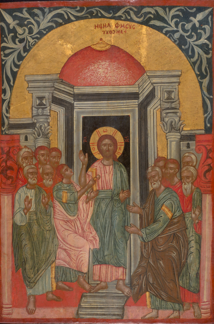9319 Antique Greek Icon Apostle Thomas