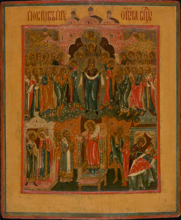 9332 Russian Icon - Pokrov of the Mother of God