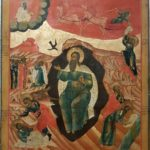 Russian wooden icon: The Prophet Elijah, Old Believers work 19th century, 60 x 48 cm