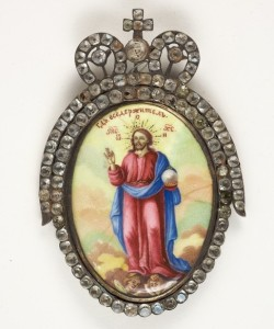 MG 5347 RUSSIAN ENAMELLED ICON - THE RISEN SAVIOR
