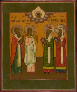 MG9349 Russian icon depicting four chosen Saints