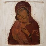 Russian icon - Mother of God of Vladimir late 17th century