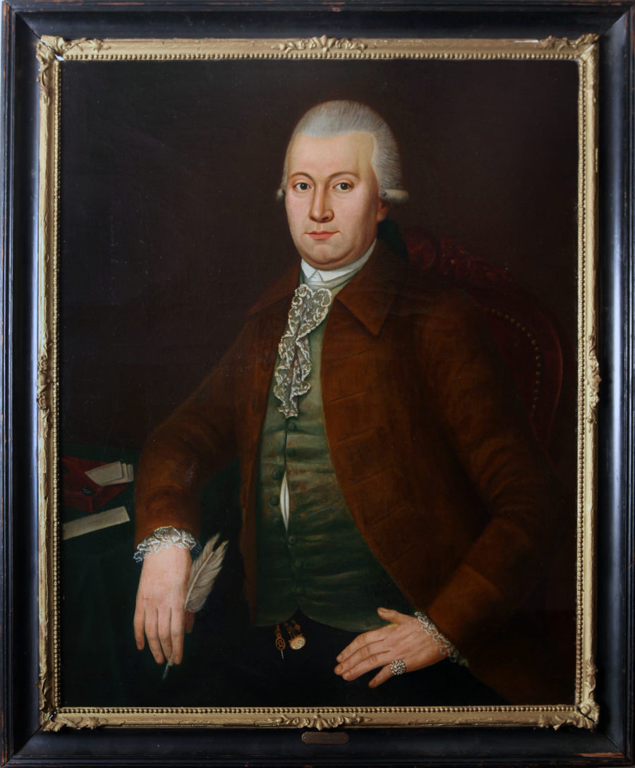 Dutch school Portrait of Lambertus Sijthoff (1731-1808). oil on canvas in contemporary frames, 80 x 60 cm. Executed circa 1785