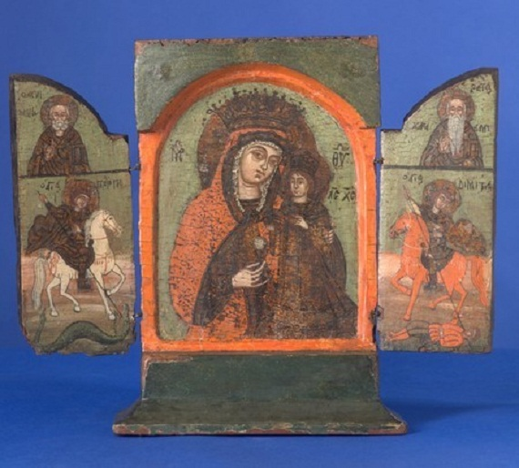 MG9368-Greek triptych: Mother of God of the Never-Fading Rose