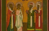 MG9349 Russian Icon Four Chosen Saints