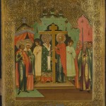 002 Icon Russian icon depicting the Elevation of the True Cross